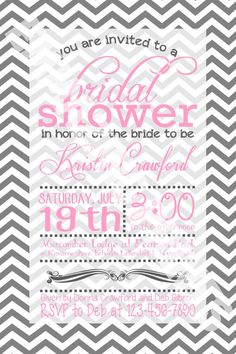 Bridal Shower Invite - Printable and Custom on Etsy, $10.00