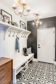 Are you looking for Rustic Farmhouse Mudroom Ideas? Maybe mudroom is a room that is rarely found in several homes, but many modern families consider . Mudroom Laundry Room, Farmhouse Laundry Room, Farmhouse Homes, Mud Room Lockers, Farmhouse Bench, Farmhouse Interior, Mudroom Shelf, Farmhouse Flooring, Farmhouse Lighting