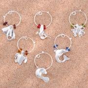 Ocean Wine Glass Markers