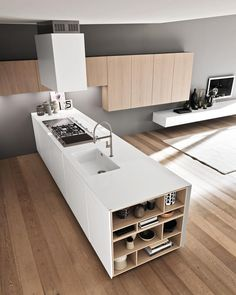 artsystock #p_roduct Best Kitchen Designs, Modern Kitchen Design, Modern Design, Kitchen Ideas, Minimalist Kitchen, Minimalist Design, Black Floor, Cool Kitchens, Minimal Design