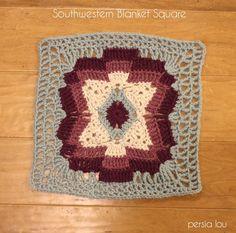 Southwestern Blanket Square Pattern