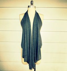 WobiSobi: Draped Shirt Vest, DIY