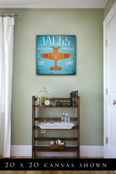 Vintage airplane nursery ideas -- love the sign and the name! :) but spelled Jaxx ...