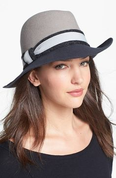 Nordstrom Two Tone Wool Felt Fedora available at #Nordstrom