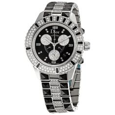 Christian Dior Women's CD11431DM001 Christal Stainless-Steel Bracelet Watch: Watches: Amazon.com