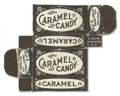 caramel candy packaging - gum & sweetmeat co. new york, c.1900s-1910s