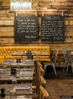 Jamie's Italian, Gatwick // Blacksheep | - They have industrial chic chairs.