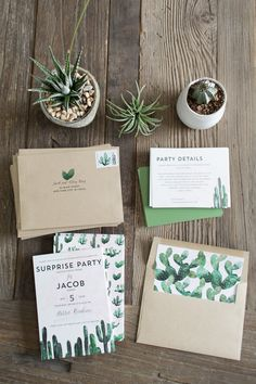Cactus Party Invites