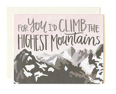 Mountains Love Card – Print&Paper