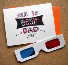 Father's day card with best dad ever in 3D.Best door GreenBeanThings, $7.00