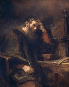Rembrandt, Harmrnszoon Van Rjin (b,1606)- Apostle Paul -2b