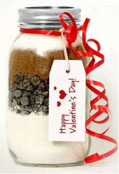 Make your sweetie this Valentine's Day brownie mix in a jar! Also great for a night in with the girls.