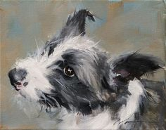 "Daily Paintworks - ""PAINT MY DOG Series - Lyra - #..."" by Clair Hartmann"