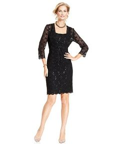 Alex Evenings Dress and Jacket, Sleeveless Lace Overlay Sequin Sheath Cocktail Dress - Womens Dresses - Macy's#fn=DRESS_OCCASION%3DEvening/Formal%26sp%3D4%26spc%3D210%26ruleId%3D65%26slotId%3D145