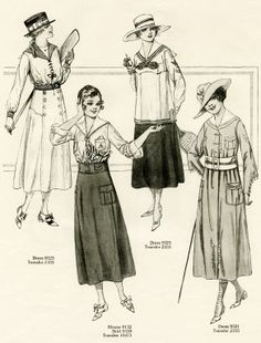 Military influence on fashion, 1917