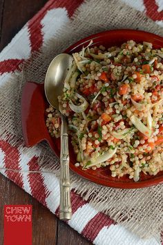 Capsicum and Fennel Pearl Couscous Salad - Chew Town