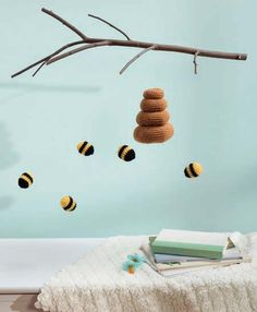 Bee mobile crochet nursery
