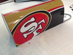 Standard size USPS approved mailbox with full color digital printed decal applied. The decal is laminated with a uv protectant laminate made to uphold Charlie Horse, Patrick Willis, Man Cave Room, 49ers Fans, Man Cave Garage, San Francisco Giants, Root Beer, Digital Prints, Etsy Shop