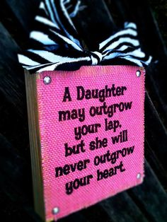 A Daughter on Pink Burlap by DesignsBySyds on Etsy, $17.99