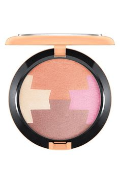 M·A·C Gleamtones Powder features a unique color block of four shades in one pan, with hues ranging from coral through champagne and bronze to tangerine.