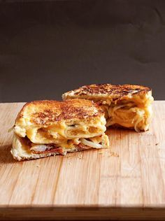 Holy Shit Balls. The mother of all grilled cheese recipes: Perogie Grilled Cheese