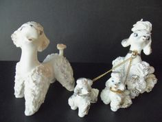 Vintage Spaghetti Poodles Family of 4 Mint by TheVintagePorch on Etsy.com Sold