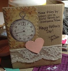 Handmade Mother's Day card..