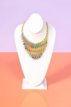 Neon Collar Necklace