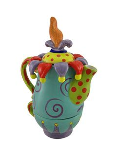Erich Emmenegger Ceramic Jester Tea for One Teapot and Cup