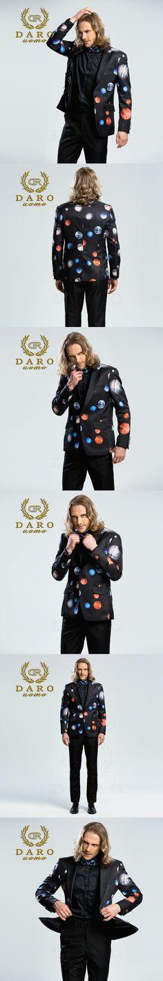 DARO 2018  Men's Printed Blazer casual Slim Fit  Suit Jacket Men Spring Autumn Trend Blazer Fashion Luxury Blazer Hombre DRJ8208