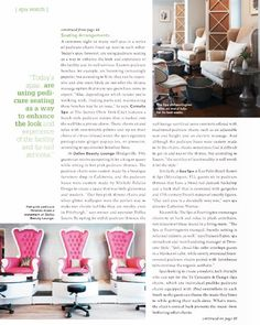 Check us out in @americanspamag this month for my input on my custom pedicure chairs! I had these bad boys custom made in LA and they're one of a kind. They are made of an amazing resin that doesn't harbor bacteria and awesome air jets so water and foot stuff doesn't get trapped in the pipes and spread between clients. At DBL we are clean freaks and style gurus- so this was our way of combining the best of both worlds! Come be a queen for a day in these pink leather thrones  So grateful to…