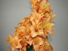 """1 Karton mit 12 Pflanzen Kunstblumen """"Lilien"""" 75cm Blumen Dekoration neu in OVP!"""