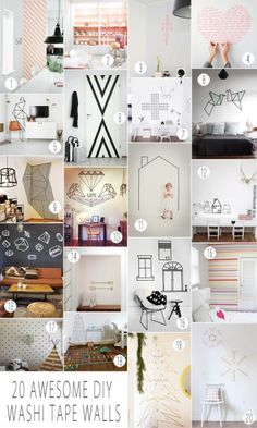 Washi Tape Wall Decals Current Washi tape obssession is not fading :)