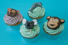 Animal Cupcakes Personalised Cupcakes, Animal Cupcakes, Mini Cakes, Candy, Cookies, Desserts, Food, Sweet, Biscuits