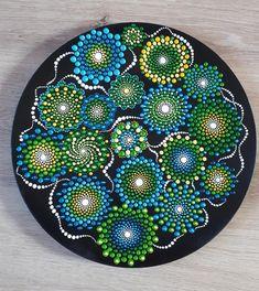 Wild flowers by SThennaCollections on Etsy Dot Art Painting, Mandala Painting, Mandala Art, Stone Painting, Mandala Canvas, Ceramic Painting, Mandala Painted Rocks, Mandala Rocks, Mandala Pattern