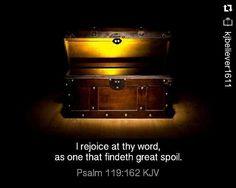 #Repost @kjbeliever1611 with @repostapp  I #rejoice at thy #word as one that findeth great #spoil. - Psalm 119:162 #kingjamesbible #psalms #bible #wordofGod #Godsword #kjb #kjv by princessnikhita