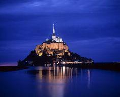 Unesco World Heritage site of Mont-Saint-Michel