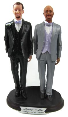 Same Sex Gay and Lesbian Wedding Cake Toppers