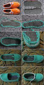 Como hacer Zapatillas de Ganchillo desde unas Suelas - Patrones Crochet