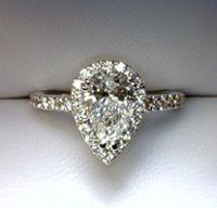 an AMAZING pear from my friends at Lamon Jewelers- Knoxville