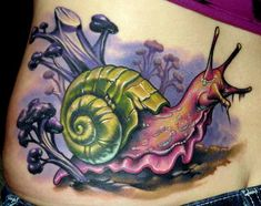 wow snail tattoo