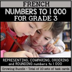 This PRINTABLE AND DIGITAL French Numeracy Task Card Bundle includes a variety of task cards that will allow students to practice various place value and number sense skills. This can also be used for distance learning in Google Classroom. Math Task Cards, Vocabulary Cards, Rounding Numbers, French Numbers, French Resources, Number Sense, Numeracy, Google Classroom, Teaching Resources