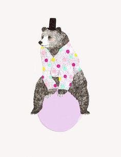 * | Flickr - Photo Sharing!  Daniela Dahf Henríquez Bear Illustration, Kids Room Wall Art, Bear Art, Watercolor Animals, Art Sketchbook, Cute Art, Art Inspo, Art For Kids, Paper Art