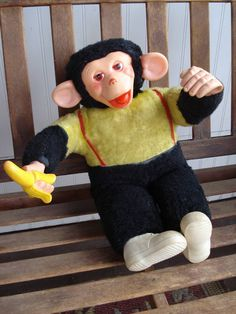 1960s Mr Bim Zippy Howdy Doody Monkey Doll 18 inch by bycinbyhand, One of my sisters had this doll