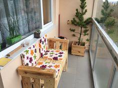 Lavice z palet na balkon