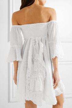 Anjuna | Elvira off-the-shoulder cotton-blend gauze mini dress | NET-A-PORTER.COM