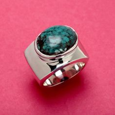 PAZ COLLECTIVE's TURQUOISE MODERN ARC RING