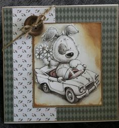 Cute card using Hunkydory's Little book of smudge and mitten and Tonic woodland walk papers Dog Cards, Kids Cards, Handmade Birthday Cards, Handmade Cards, Pin Card, Hunkydory Crafts, Hunky Dory, Fathers Day Cards, Anna Griffin