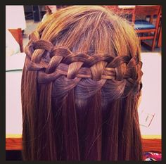 Instagram Insta-Glam Waterfall Braid