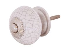 Bulk Wholesale Handmade White Color Drawer Knobs / Pulls (Set of 2) in Ceramic with Crackled Effect - Decorative Handles for Drawers / Cabinets / Doors / Cup-Boards – Home Décor
